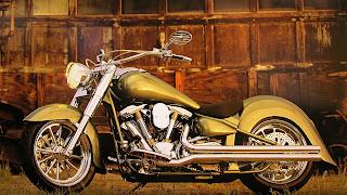 Bureaublad achtergrond met foto van een motor