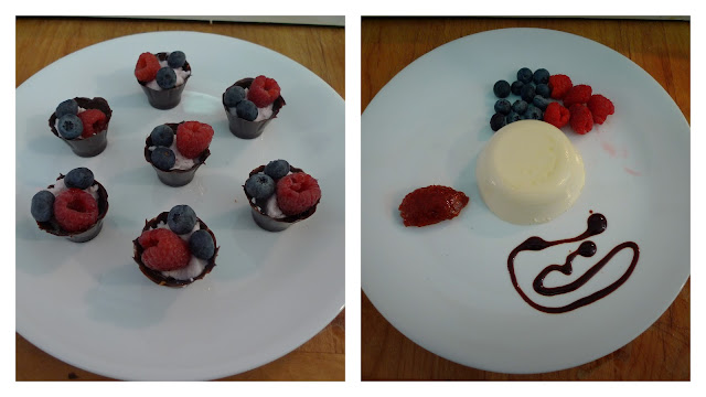 chocolate and berry desserts tutorial