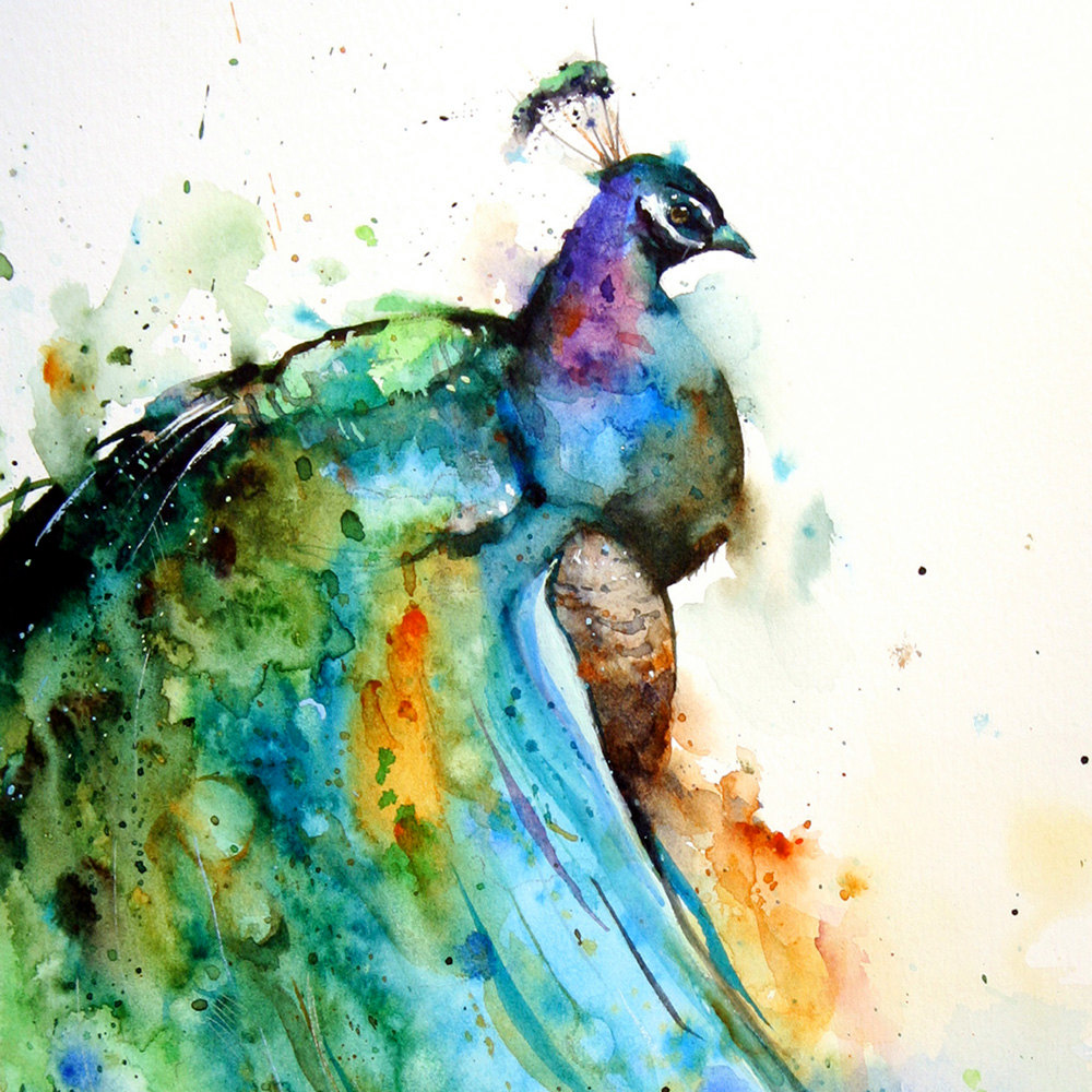 Simply creative watercolor animals paintings by dean crouser for Watercolor painting images