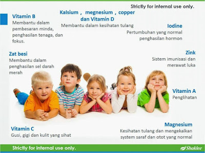 Vitalea Kids Shaklee Untuk Nutrisi Anak-anak