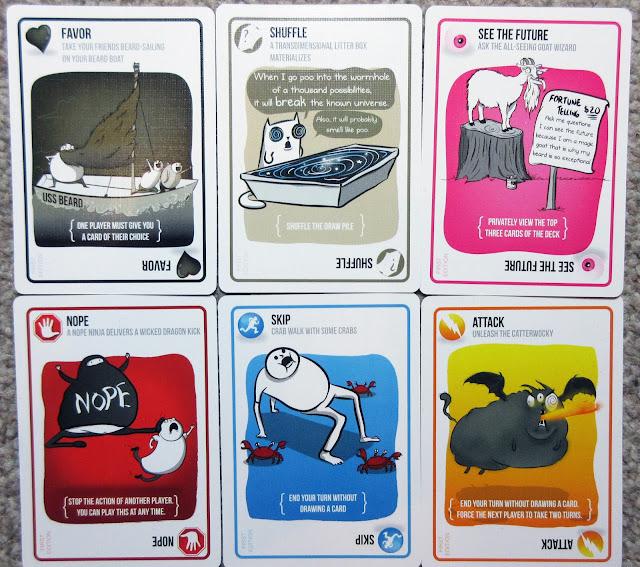 Exploding Kittens instruction cards