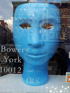 face,face chair,blue face chair, bowery, new york, nyc, china town, art, sculpture ,
