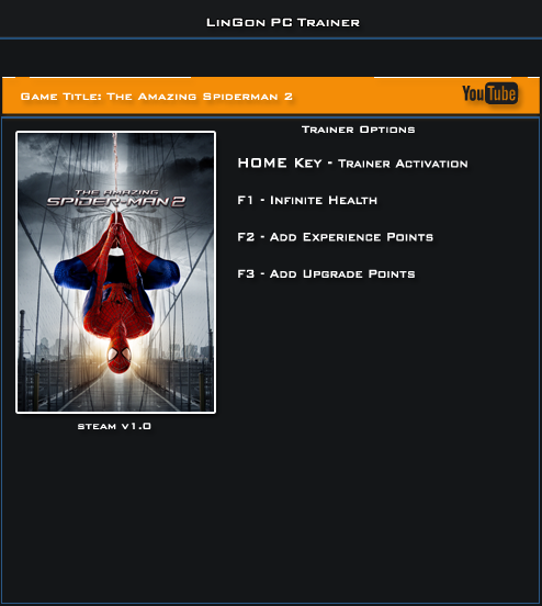 The Amazing Spider Man 2 v1.0 Steam Trainer +3 [LinGon]