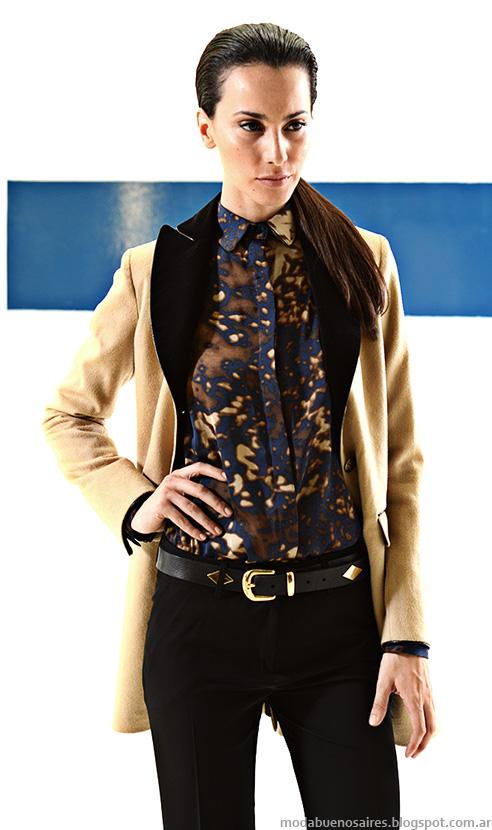 Mancini otoño invierno 2014 blusas de moda y camisas.