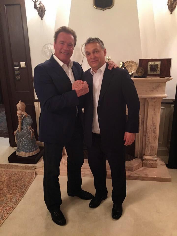Arnold Schwarzenegger, Orbán Viktor, Schwarzenegger Budapesten, Andy Vajna