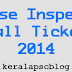 Kerala PSC Excise Inspector Exam 2014 Hall Ticket