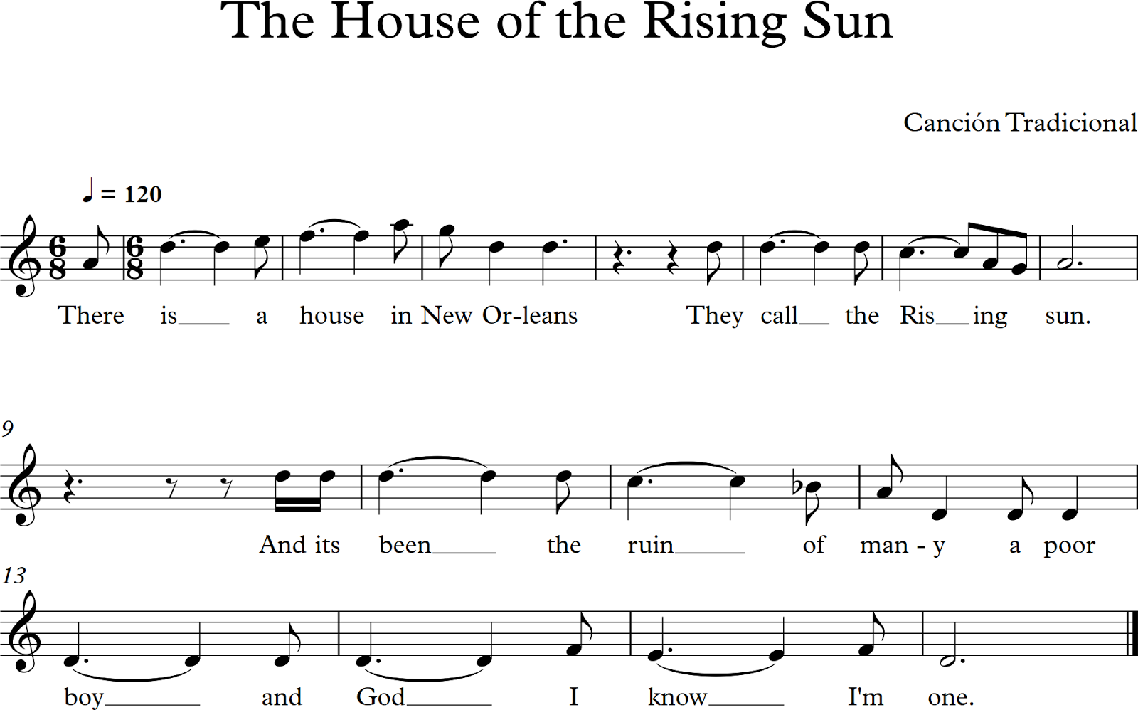 House of the rising sun 8 bit