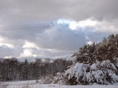 lowering sky over snow