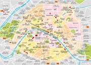 Anything outside the different coloured areas is outside the city of Paris . (arrondissements paris )