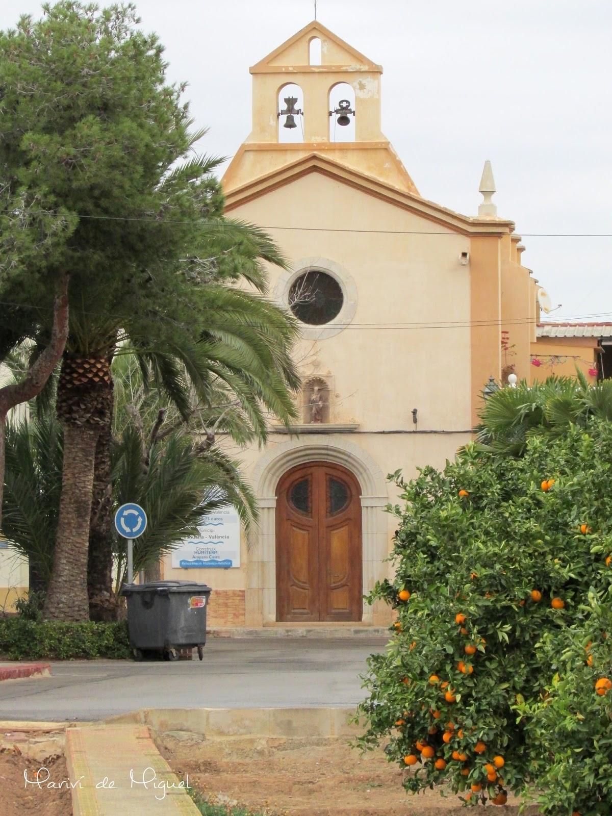 Iglesia de San Benito, en Mahuella