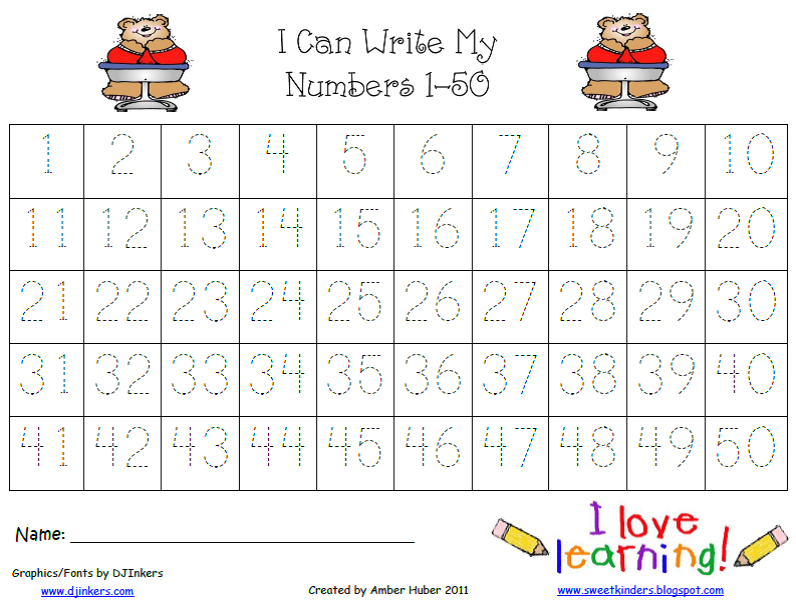 Priceless image pertaining to free printable numbers 1-50