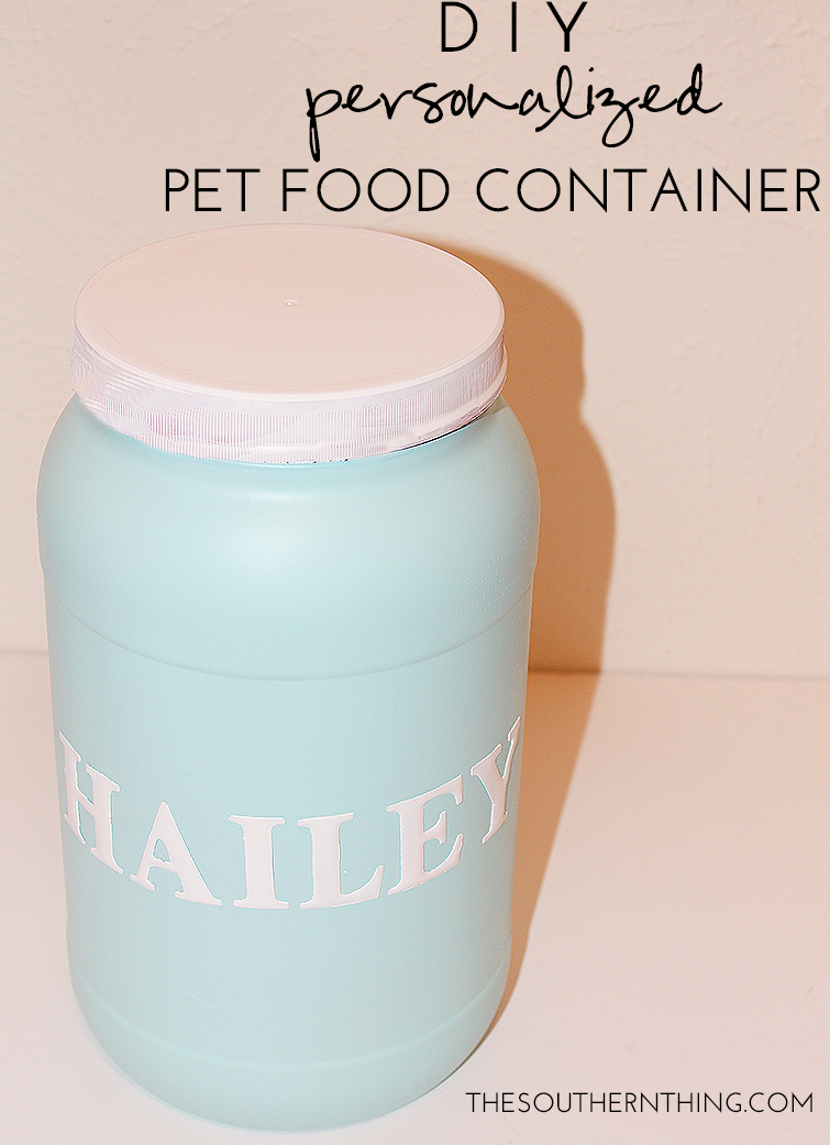 DIY Personalized Pet Food Container Tutorial