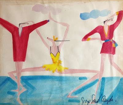 Vintage Giorgio Sant Angelo Sporty Original Sketch