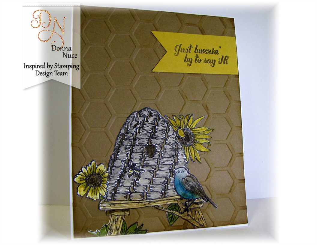 Inspired by Stamping, Crafty Colonel Donna Nuce, Honey Bee Stamp Set, Just Because Card