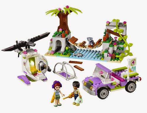 TOYS : JUGUETES - LEGO Friends  41036 Selva, rescate en el puente de la jungla   Jungle Bridge Rescue | Producto oficial 2014 | Edad: 7-12 años