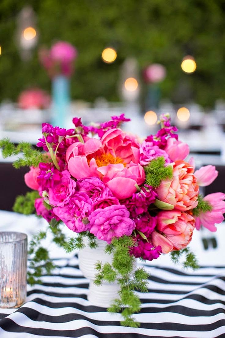 Beautiful bridal charming peony centerpieces