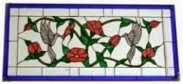 Stained Glass Transom Window in our Living Room