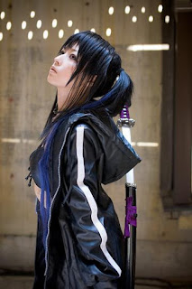 Pokemaru cosplay as Black Rock Shooter