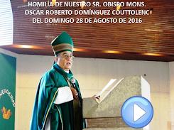 VIDEO DE LA HOMILÍA DEL SR. OBISPO, DEL DÍA 28 DE AGOSTO DE 2016