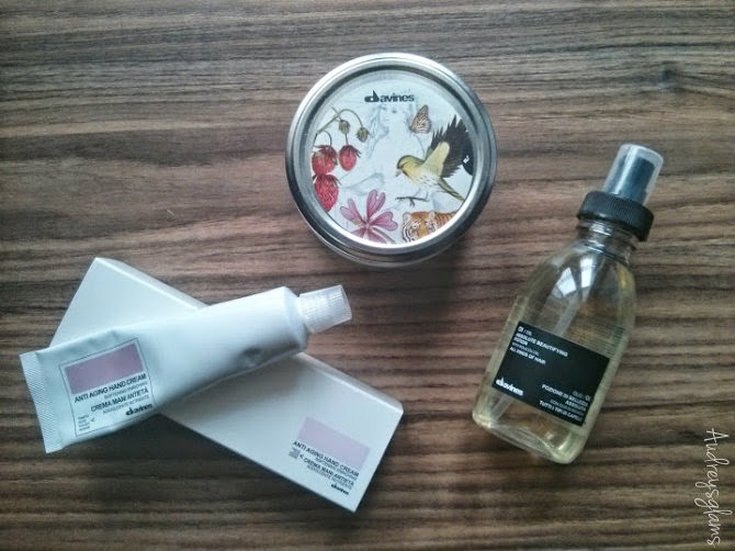 davines hair hand and body review, hair oil mask body butter hand cream
