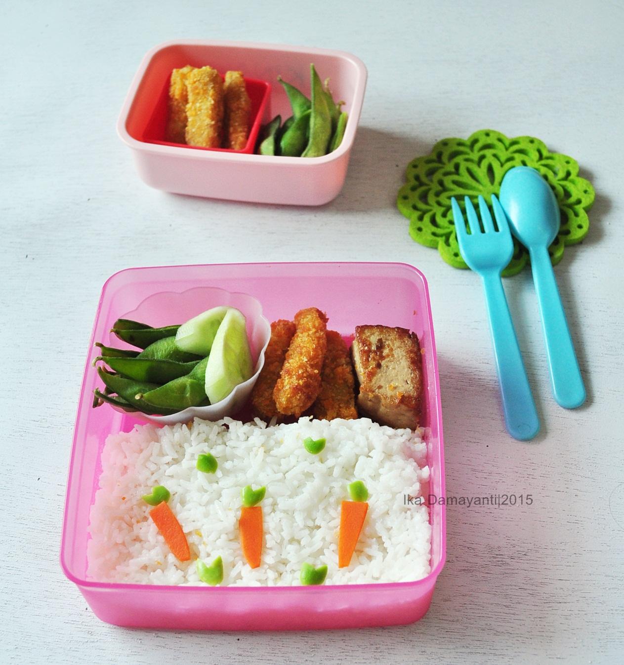 Nugget Ayam Tahu: MamaDhiNar Kitchen: Quick Bento : Carrot Bento And Heart
