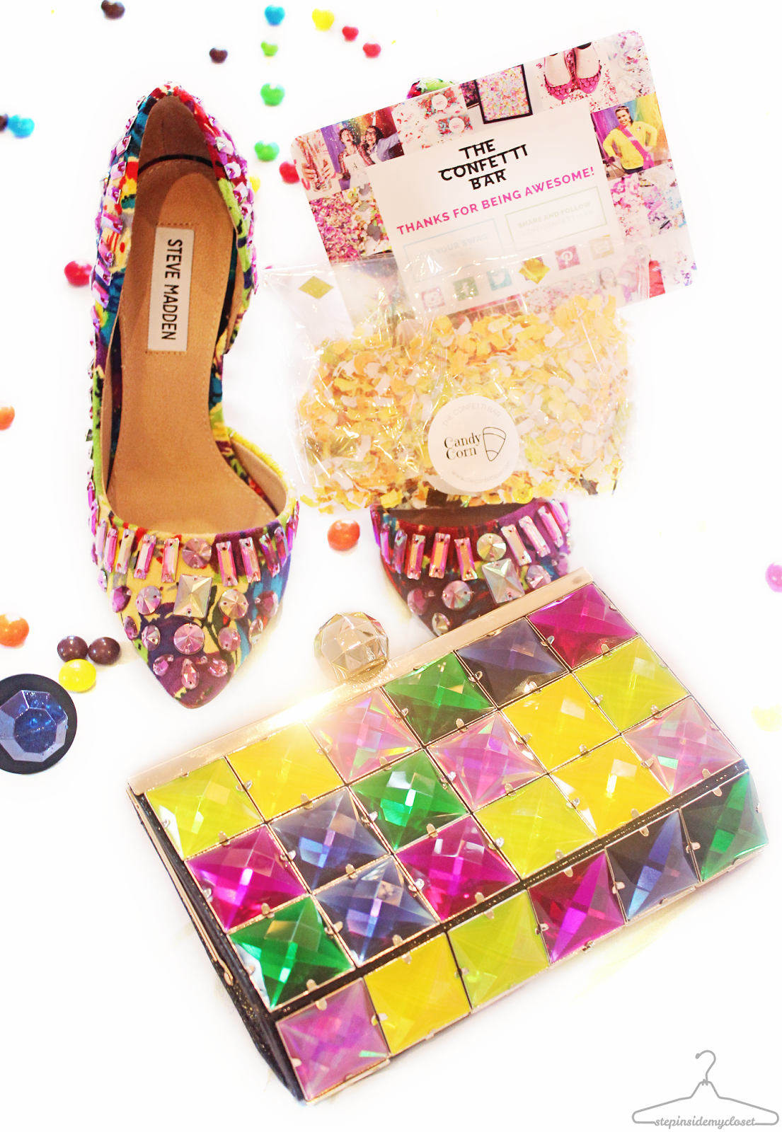 Step Inside My Closet Couture, Candy and Confetti - Candy Crush, The Confetti Bar, Kate Spade, The Shopping Bag, Halloween Costume, Halloween Candy Crush Costume