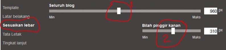 cara merubah ukuran kolom posting dan sidebar