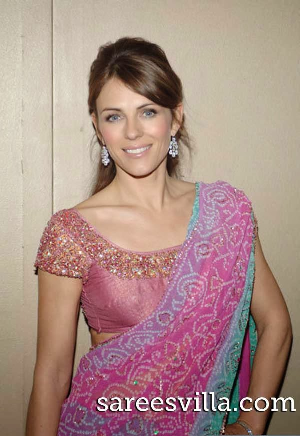 Elizabeth hurley in saree