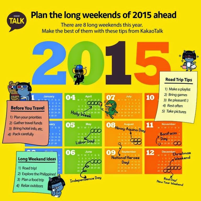 Plan Your Travels Ahead; Here's 2015 Long Weekends!