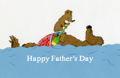 illustration by robert wagt of two bears swimming for father's day