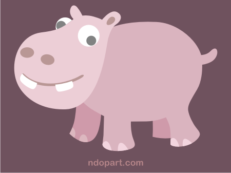 Download Vector: cute hippo (hippopotamus)