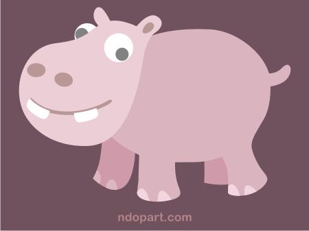 Download Vector: cute hippo (hippopotamus)