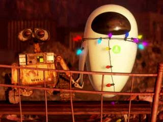WALL-E holding something in his claw