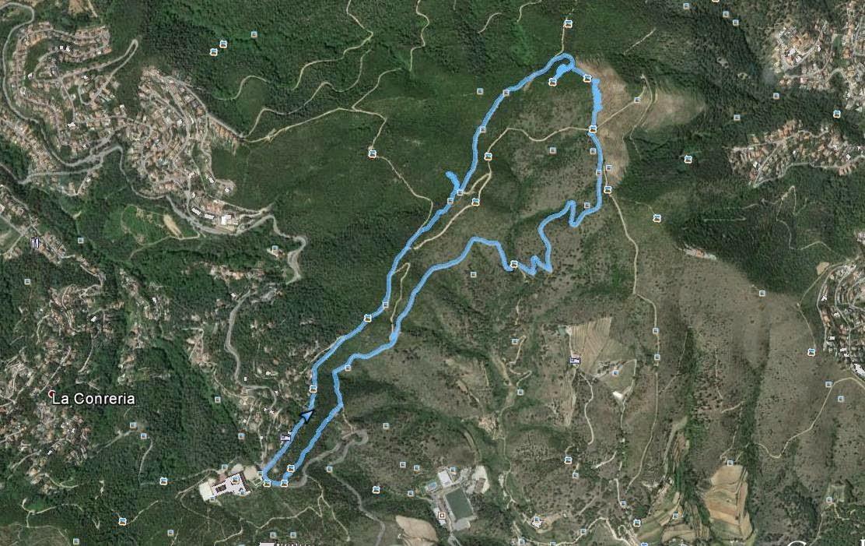Recorregut: La Conreria-Turó d'en Galzeran