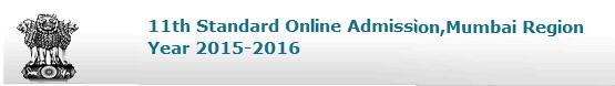 FYJC 2015 Admission Schedule Details