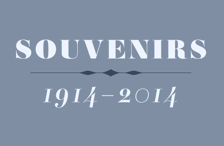 Souvenirs 1914-2014
