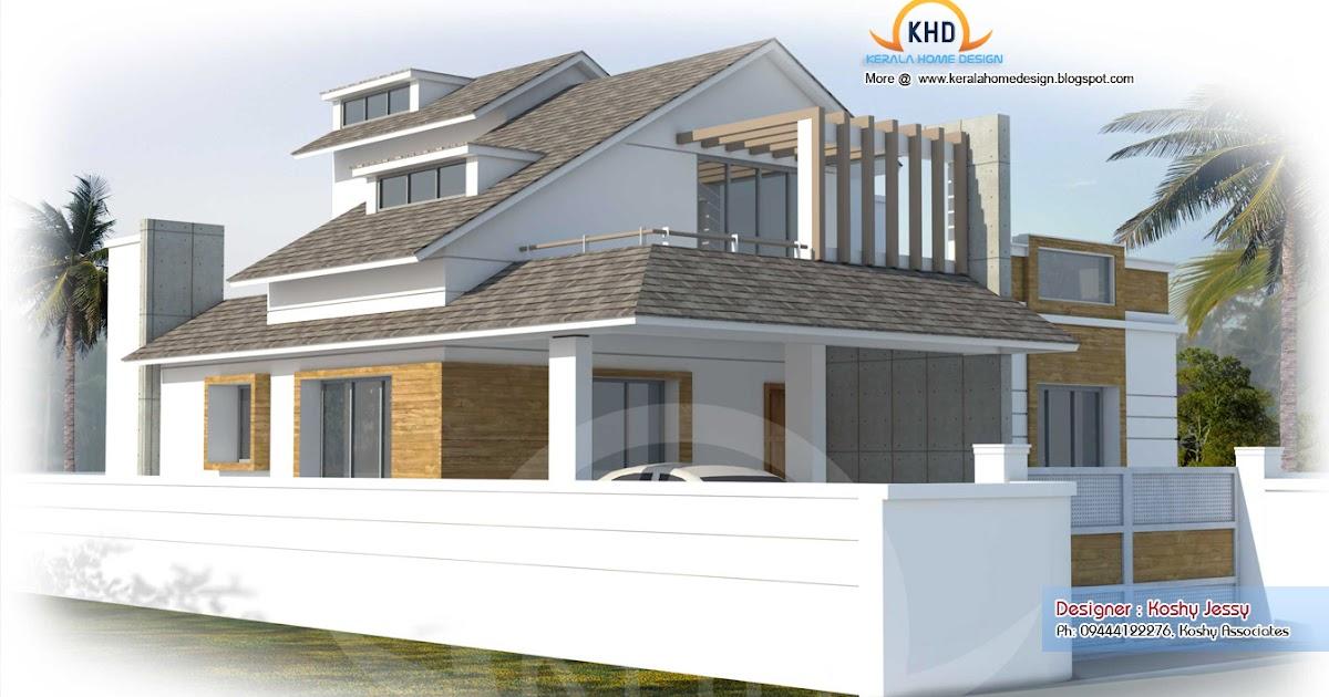 Modern House Plan 2000 Sq Ft Kerala Home
