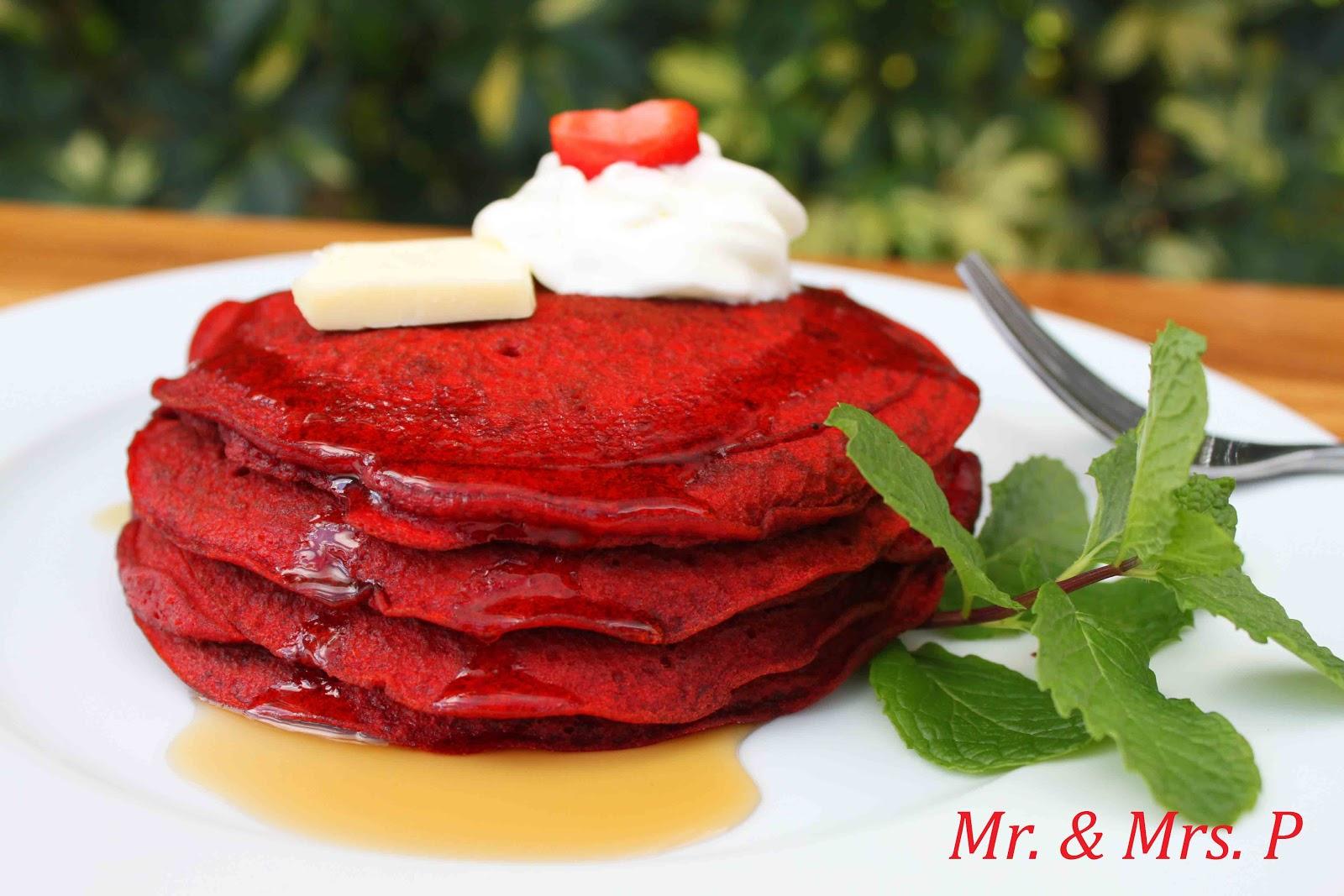 Mr. & Mrs. P: Red Velvet Pancakes