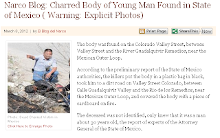Narco Blog- Charred Body of Young Man