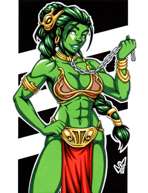 Slave She-Hulk commission por gb2k