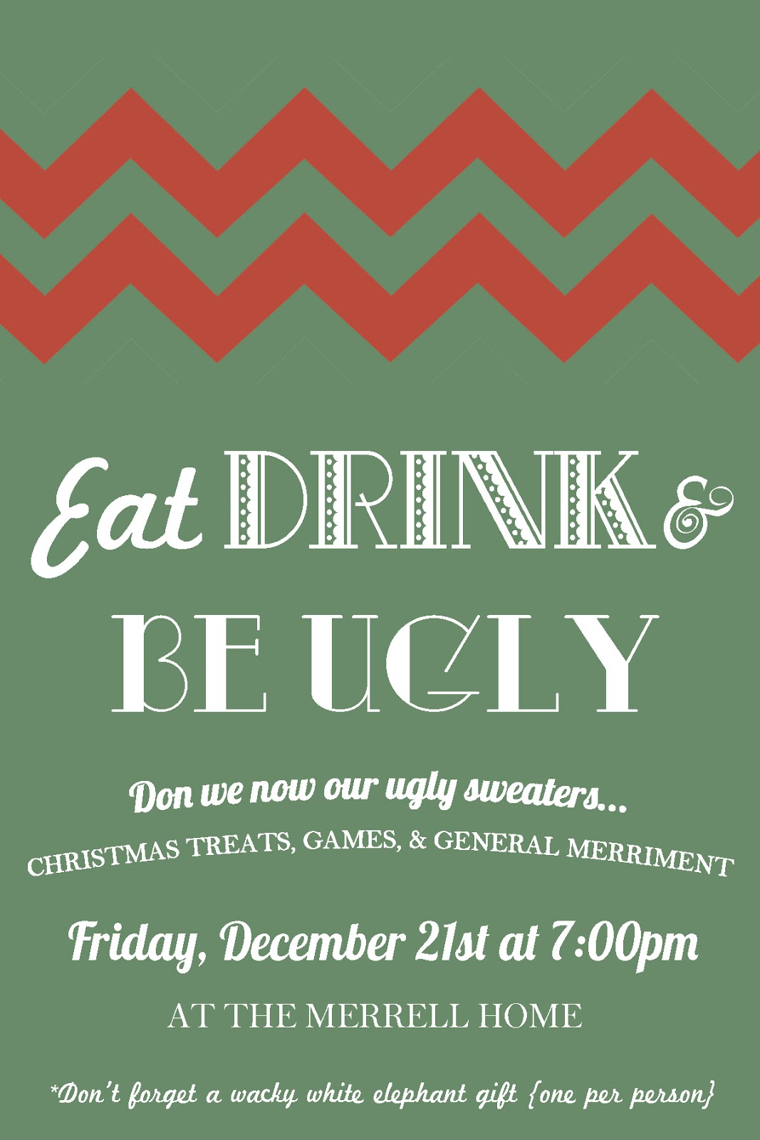 Ugly Christmas Party Invitations is nice invitation ideas
