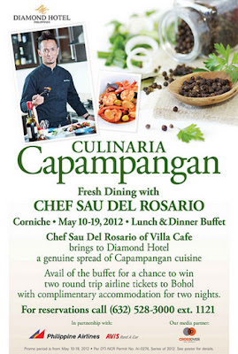 Culinaria Capampangan at Corniche in Diamond Hotel
