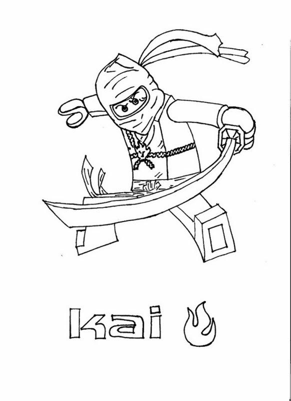 Ausmalbilder Lego Ninjago Kostenlos