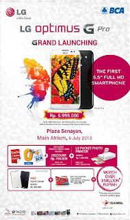 LG Optimus G Pro launching di Indonesia Rp 6.999.000 diskon Rp 750.000