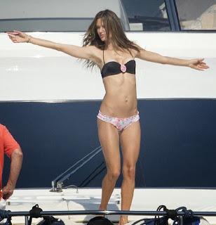 Alessandra Ambrosio Black Bikini Saint Tropez