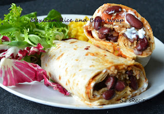 Mexican Rice and Bean Wrap, kidney beans