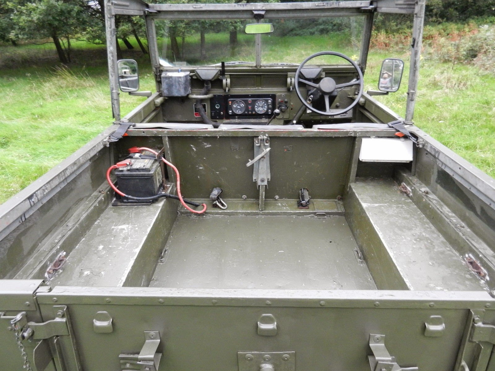 Land Rover Series Interior Cabin on Land Rover Series Engine