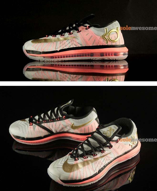 5321d7d256e THE SNEAKER ADDICT  Nike KD 6 Elite Gold  Black  Mango Sneaker ...