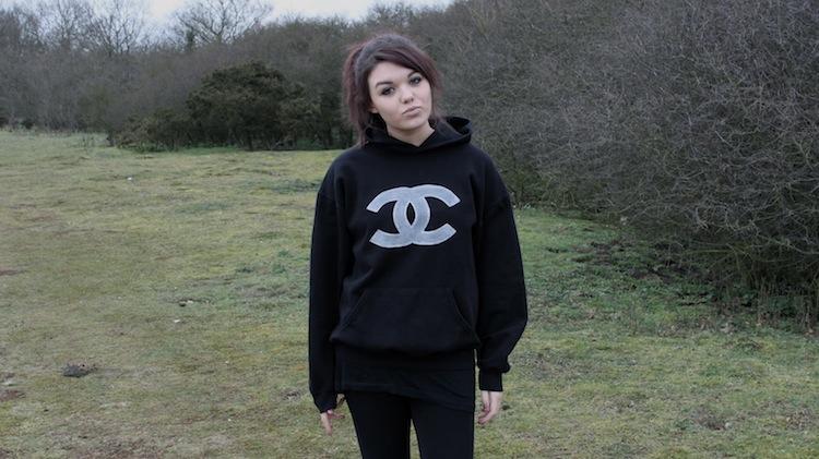 handmade chanel hoodie