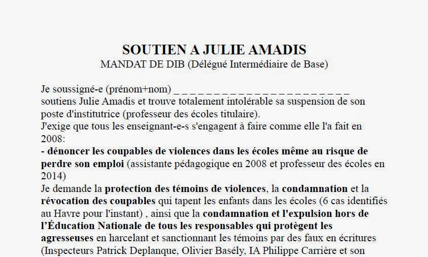 Soutien Julie Amadis Mandat De Dib on bp trfs